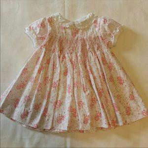 Polly Flinders Smocked Baby Girl Dress